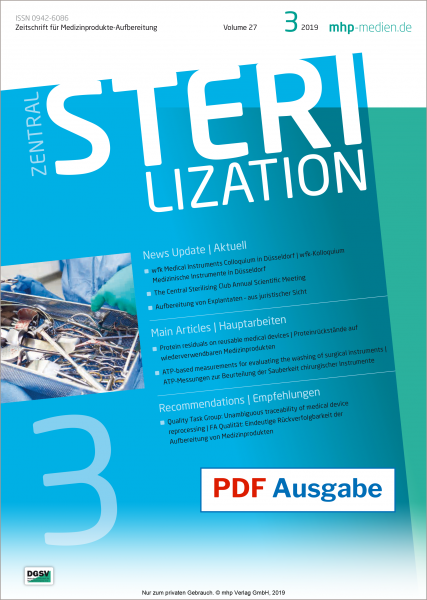 PDF issue - Zentralsterilization 03/2019