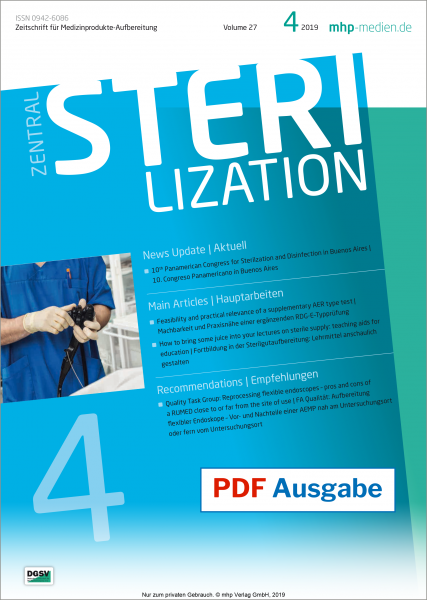 PDF issue - Zentralsterilization 04/2019