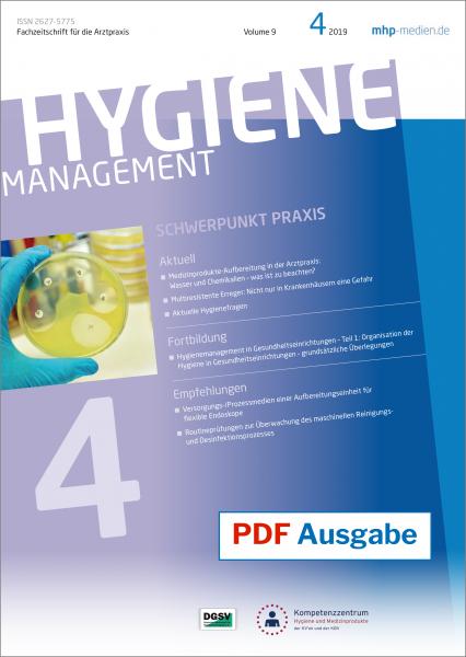PDF Ausgabe - HYGIENEManagement - 04/2019