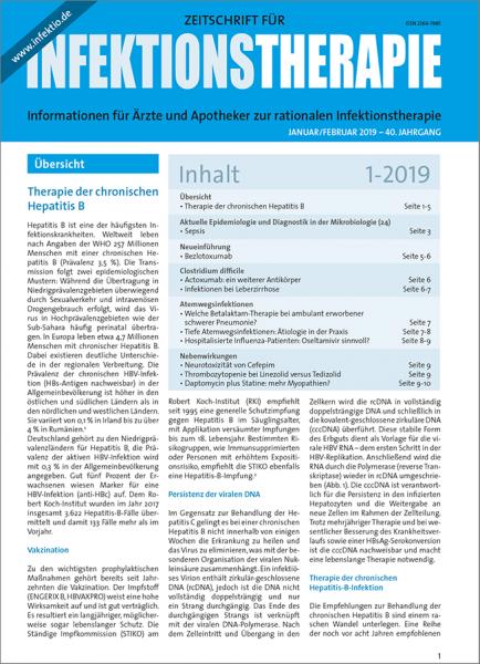 Zeitschrift für Infektionstherapie 01/2019