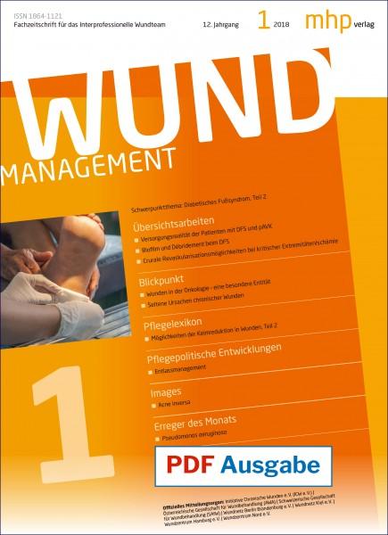 PDF Ausgabe - Wundmanagement 01/2018