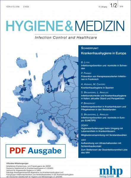 PDF Ausgabe - Hygiene & Medizin 1+2/2018
