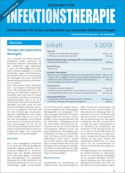 Zeitschrift für Infektionstherapie 05/2019