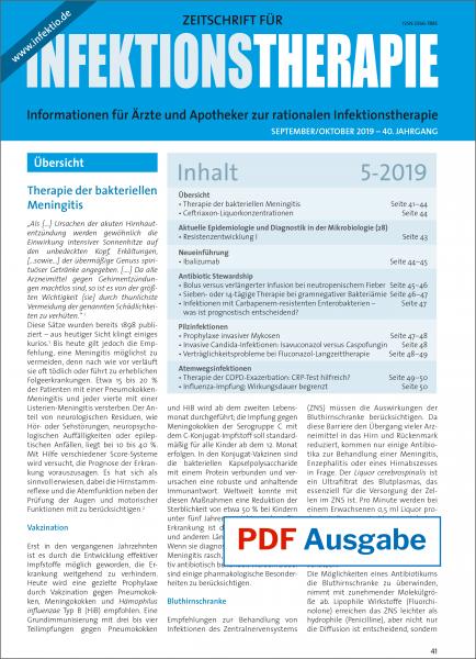 PDF Ausgabe - Zeitschrift für Infektionstherapie 05/2019