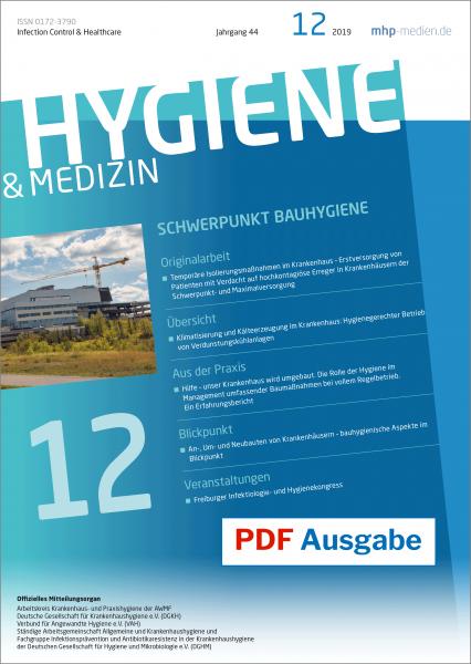 PDF Ausgabe - HYGIENE & MEDIZIN - 12/2019