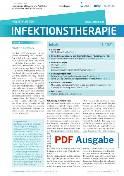 Zeitschrift für Infektionstherapie 01/2021