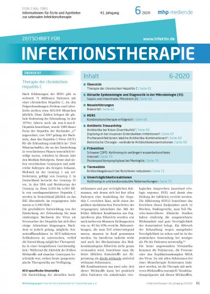 Zeitschrift für Infektionstherapie 06/2020